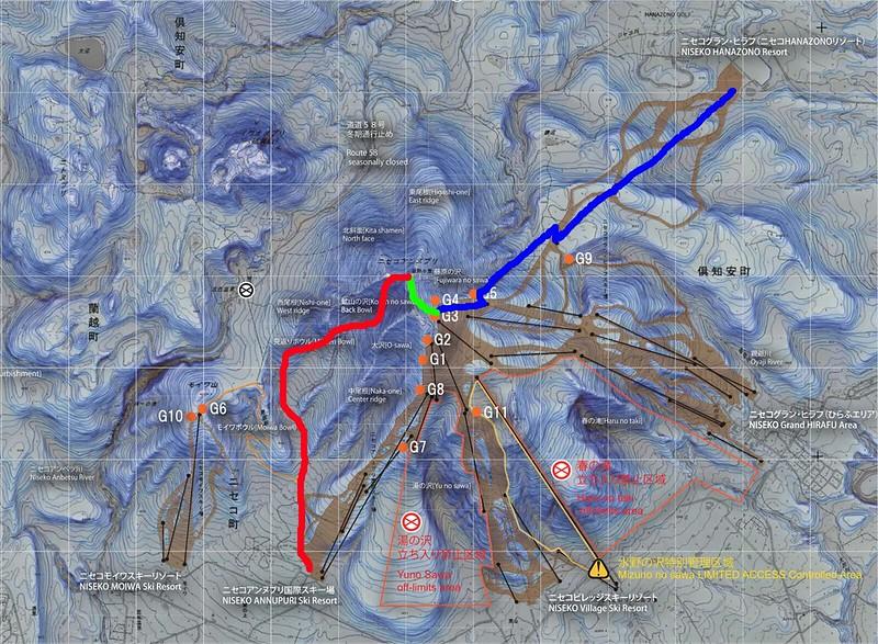 ニセコルール マップ